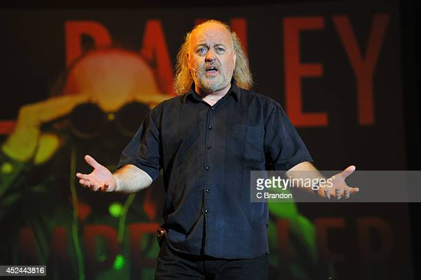 Bill Bailey performs on stage at the Kew The Music concert at Kew Gardens on July 20 2014 in London United Kingdom