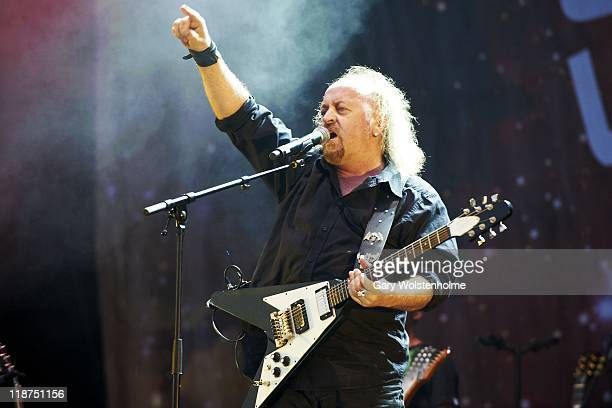 Bill Bailey performs on stage during the third day of Sonisphere 2011at Knebworth House on July 10 2011 in Stevenage United Kingdom