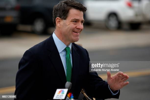 Bill Baroni former deputy executive director of The Port Authority of New York and New Jersey arrives at the Martin Luther King Jr Federal Courthouse...