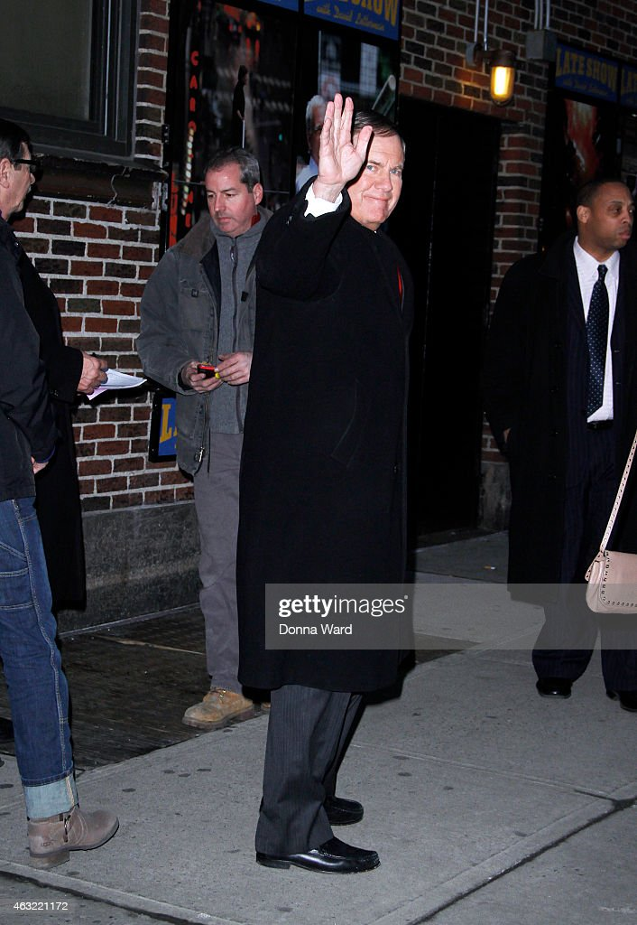 """Celebrities Visit """"Late Show With David Letterman"""" - February 11, 2015"""