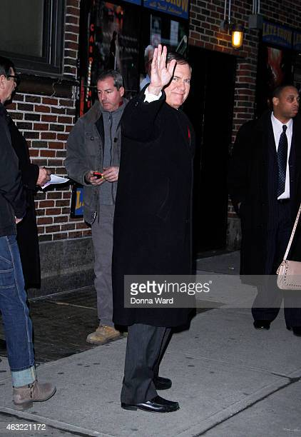 Bill Belichick leaves the 'Late Show with David Letterman' at Ed Sullivan Theater on February 11 2015 in New York City