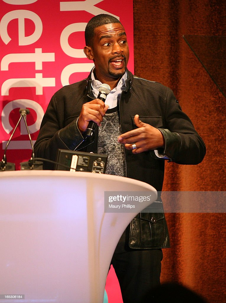 Bill Bellamy speaks onstage during BET Networks 2013 Los Angeles Upfront at Montage Beverly Hills on April 2, 2013 in Beverly Hills, California.