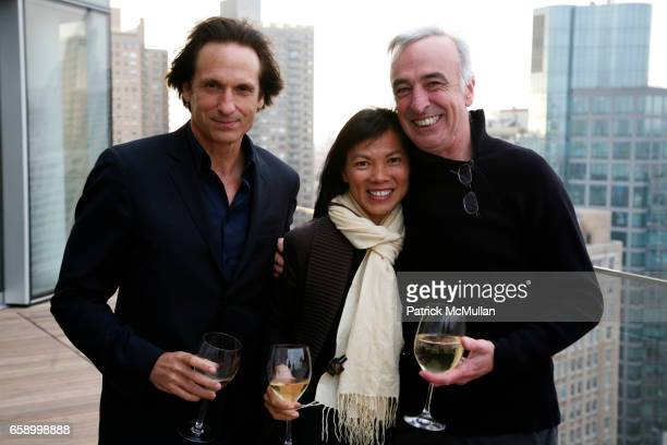 Bill Block Kim Nguyen and Kalus Ortlieb attend THE COOPER SQUARE HOTEL MINIBAR EXCLUSIVES UNVEILING at Cooper Square Hotel Penthouse on April 21 2009...