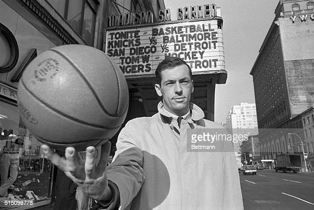 Bill Bradley former Princeton AllAmerican shows that he's still handy with a basketball near New York's Madison Square Garden here Bradley has been...