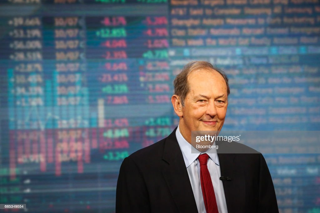 Bill Bradley, managing director of Allen & Co., smiles during a Bloomberg Television interview in New York , U.S., on Friday, May 19, 2017. Bradley discussed the probability of achieving U.S. tax reform and the need to clean up tax loopholes. Photographer: Christopher Goodney/Bloomberg via Getty Images