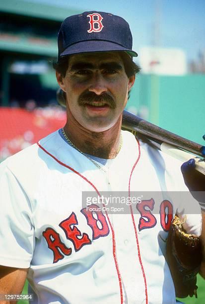 Bill Buckner of the Boston Red Sox looks on before an Major League Baseball game circa 1985 at Fenway Park in Boston Massachusetts Buckner played for...