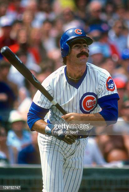 Bill Buckner of the Chicago Cubs bats during an Major League Baseball game circa 1979 at Wrigley field in Chicago Illinois Buckner played for the...