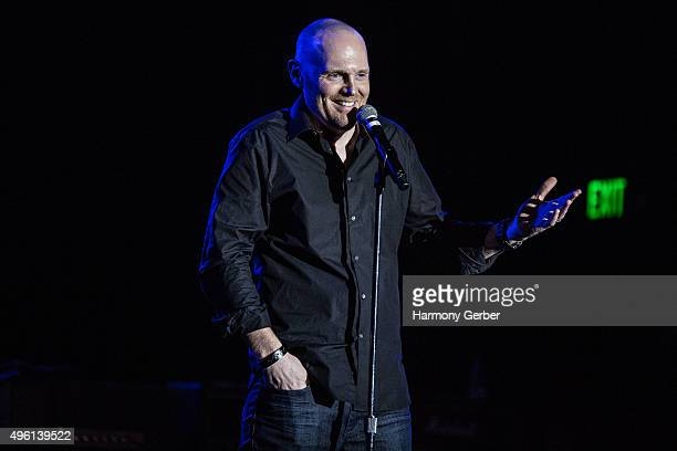 Bill Burr performs at the Benefit Concert And Live Auction For Rhonda's Kiss at El Rey Theatre on November 03 2015 in Los Angeles California