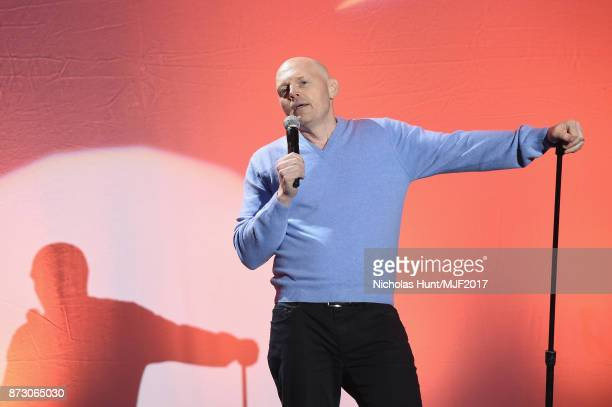 Bill Burr presents on stage at A Funny Thing Happened On The Way To Cure Parkinson's benefitting The Michael J Fox Foundation at the Hilton New York...