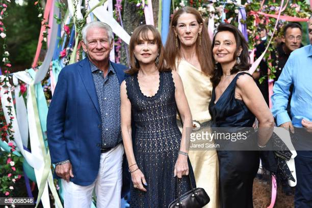 Bill Campbell Isabelle Huppert Christine Campbell and Martine Rubinstein attend The 24th Annual Watermill Center Summer Benefit Auction at The...