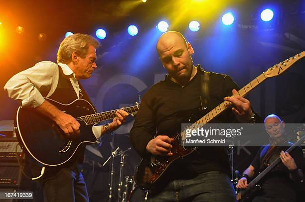Bill Champlin formerly of Chicago and Sayit Doelen perform onstage during the 30th anniversary party of Szene Wien on April 18 2013 in Vienna Austria