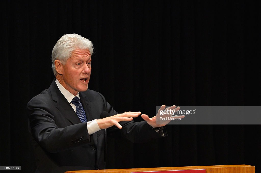 <a gi-track='captionPersonalityLinkClicked' href=/galleries/search?phrase=Bill+Clinton&family=editorial&specificpeople=67203 ng-click='$event.stopPropagation()'>Bill Clinton</a>, 42nd President of the United States and Founder of the Clinton Foundation receives the Centennial Medal from the Harvard School of Public Health on October 24, 2013 in Boston, Massachusetts.
