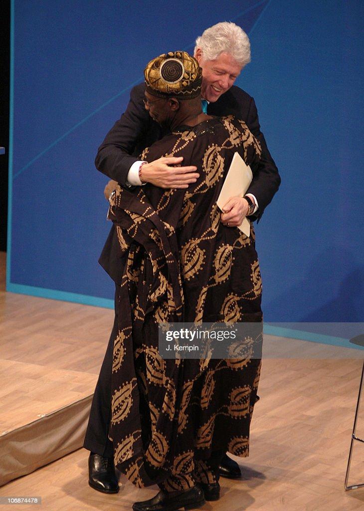 Bill Clinton and Olusegun Obasanjo, President of Nigeria