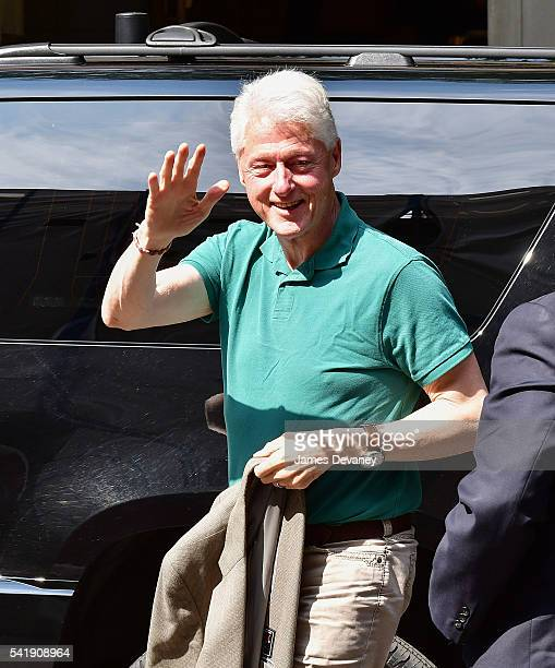 Bill Clinton arrives to Lenox Hill Hospital on June 20 2016 in New York City