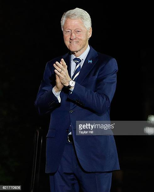 Bill Clinton at 'The Night Before' rally at Independence Hall on November 7 2016 in Philadelphia Pennsylvania