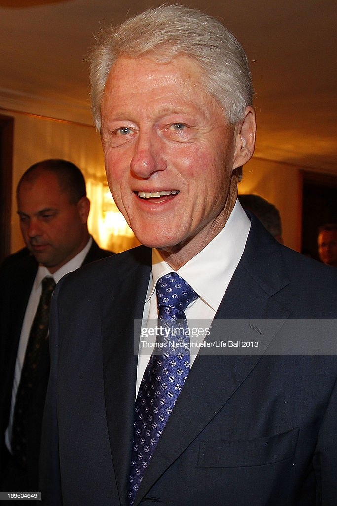 <a gi-track='captionPersonalityLinkClicked' href=/galleries/search?phrase=Bill+Clinton&family=editorial&specificpeople=67203 ng-click='$event.stopPropagation()'>Bill Clinton</a> attends the 'Red Ribbon Celebration Concert - United in Difference' at Burgtheater on May 24, 2013 in Vienna, Austria.