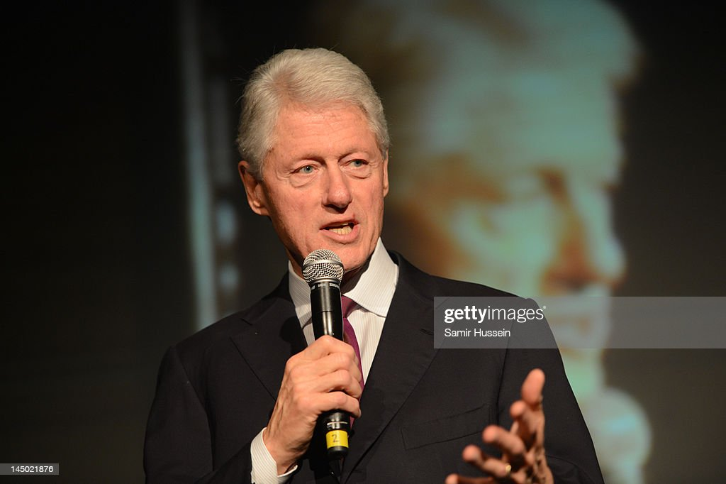 Bill Clinton speaks at 'A Night Out With The Millennium Network' at the Old Vic Tunnels, presented by The Clinton Foundations and The Reuben Foundation. The evening, hosted by Bill Clinton, Chelsea Clinton, Gwyneth Paltrow and Will i Am took place on the 22nd May 2012 in London, England.