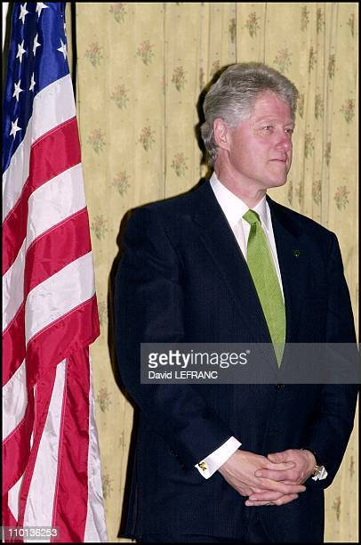 Bill Clinton was at 16th annual Irish America top 100 gala at the Plaza Hotel to present 'Irish and American of the year Award' to Dr Jerri Nielsen...
