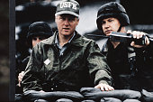 Bill Clinton with Soldier in Bunker