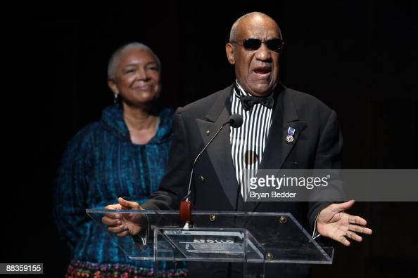 Bill Cosby and his wife Camille Cosby speak onstage at the Apollo Theater 75th Anniversary Gala at The Apollo Theater on June 8 2009 in New York City