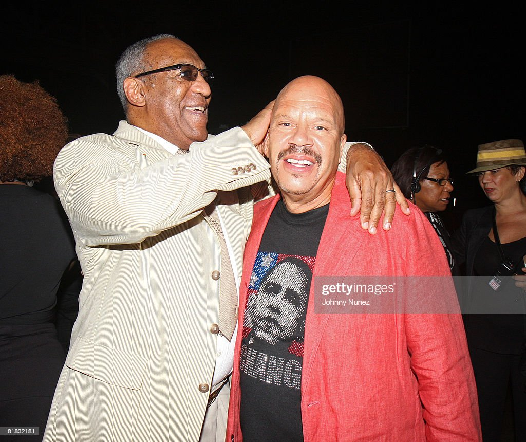 Bill Cosby and Tom Joyner attend the 2008 Essence Music Festival Day 2 on July 5 2008 in New Orleans Louisiana