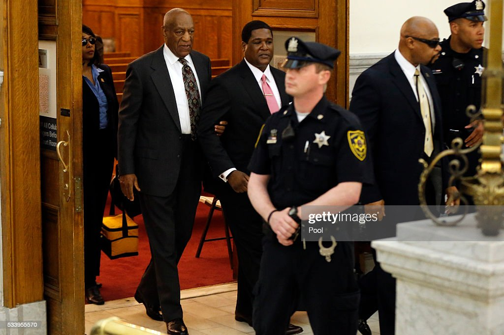 <a gi-track='captionPersonalityLinkClicked' href=/galleries/search?phrase=Bill+Cosby&family=editorial&specificpeople=206281 ng-click='$event.stopPropagation()'>Bill Cosby</a> departs the Montgomery County Courthouse after a preliminary hearing, May 24, 2016, in Norristown, Pennsylvania. Cosby has been ordered to stand trial in the lone criminal case lodged amid dozens of accusations that he molested women.