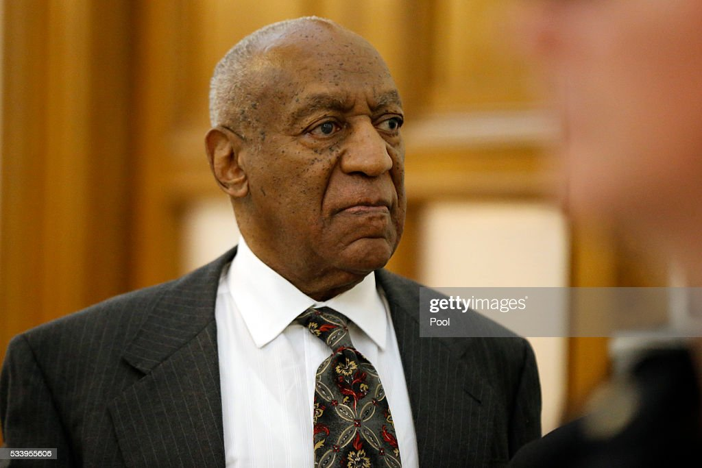 <a gi-track='captionPersonalityLinkClicked' href=/galleries/search?phrase=Bill+Cosby&family=editorial&specificpeople=206281 ng-click='$event.stopPropagation()'>Bill Cosby</a> departs the Montgomery County Courthouse after a preliminary hearing, May 24, 2016, in Norristown, Pennsylvania. Cosby was ordered to stand trial on sexual assault charges after a hearing that hinged on a decade-old police report.