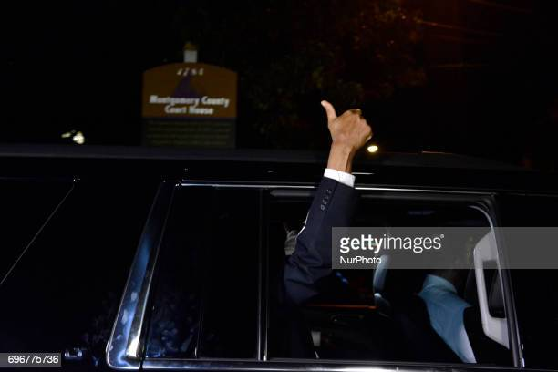 Bill Cosby gives a thumbs up as he departs Montgomery Courthouse after the fifth day of jury deliberations in the aggravated indecent assault trail...