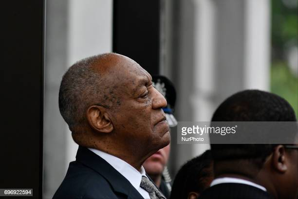 Bill Cosby moments after judge Steven O'Neill declares a mistrial in the aggravated indecent assault trail of entertainer Bill Cosby at Montgomery...