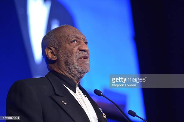 Bill Cosby speaks at the Jackie Robinson Foundation 2014 Awards Dinner at Waldorf Astoria Hotel on March 3 2014 in New York City