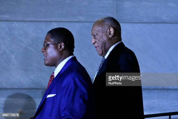 Bill Cosby with spokesperson Andrew Wyatt departs Montgomery Courthouse after the fifth day of jury deliberations in the aggravated indecent assault...