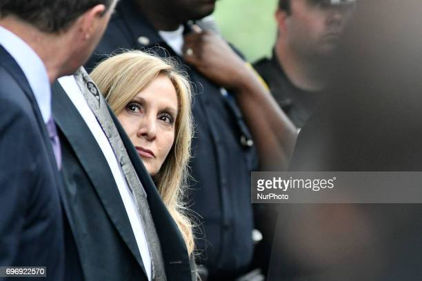 Bill Cosbys defense attorney Angela Agrusa seen outside after judge Steven O'Neill declares a mistrial in the aggravated indecent assault trail of...