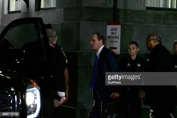 Bill Cosby's defense attorney Brian McMonagle departs Montgomery Courthouse after the fifth day of jury deliberations in the aggravated indecent...