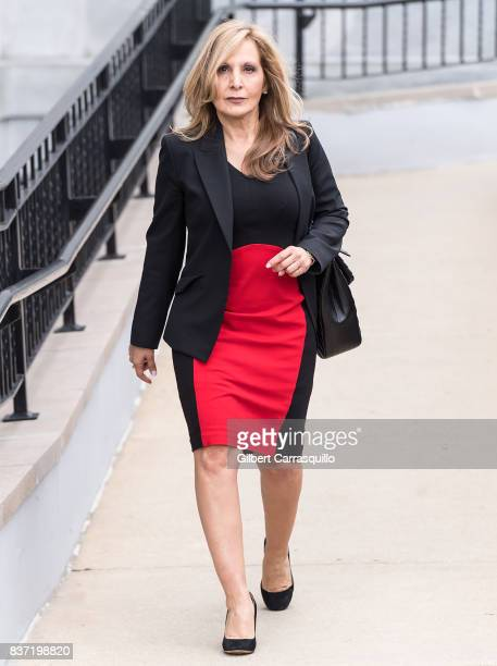 Bill Cosby's former attorney Angela Agrusa is seen leaving Montgomery County Courthouse prior a pretrial hearing to discuss Cosby's new legal team on...