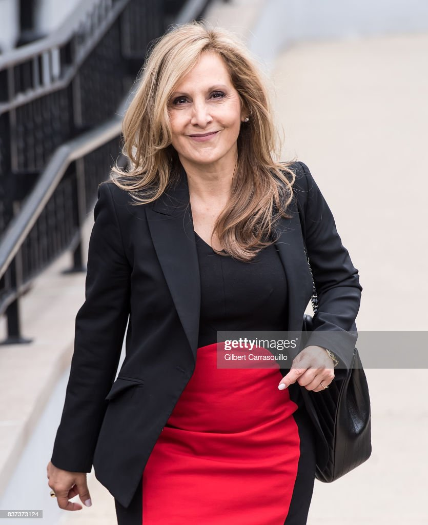 Bill Cosby's former attorney Angela Agrusa is seen leaving Montgomery County Courthouse prior a pre-trial hearing to discuss Cosby's new legal team on August 22, 2017 in Norristown, Pennsylvania.