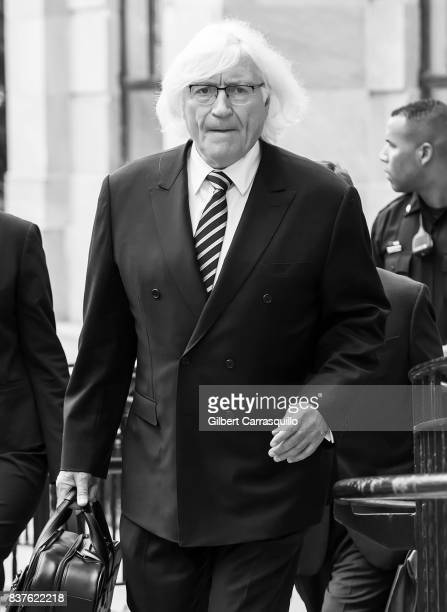 Bill Cosby's new attorney Thomas Mesereau is seen arriving to Montgomery County Courthouse prior a pretrial hearing to discuss Cosby's new legal team...