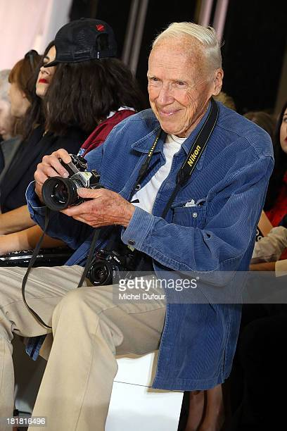 Bill Cunnigham attends the Rochas show as part of the Paris Fashion Week Womenswear Spring/Summer 2014 on September 25 2013 in Paris France