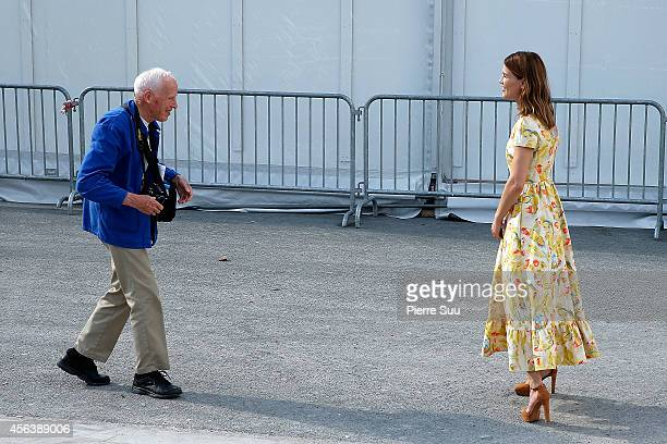 Bill Cunningham attends the Valentino show as part of the Paris Fashion Week Womenswear Spring/Summer 2015 on September 30 2014 in Paris France