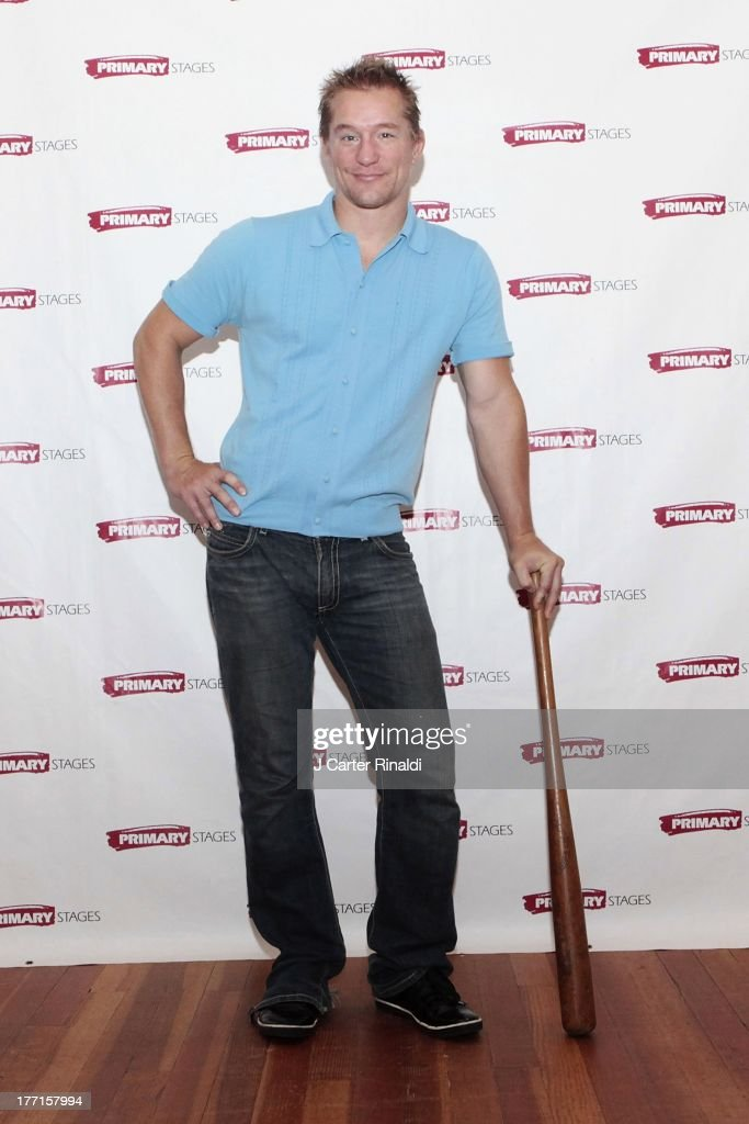 Bill Dawes attends the cast meet and greet for the upcoming Off-Broadway production 'Bronx Bombers' at Playwrights Horizons Rehearsal Studios on August 21, 2013 in New York City.