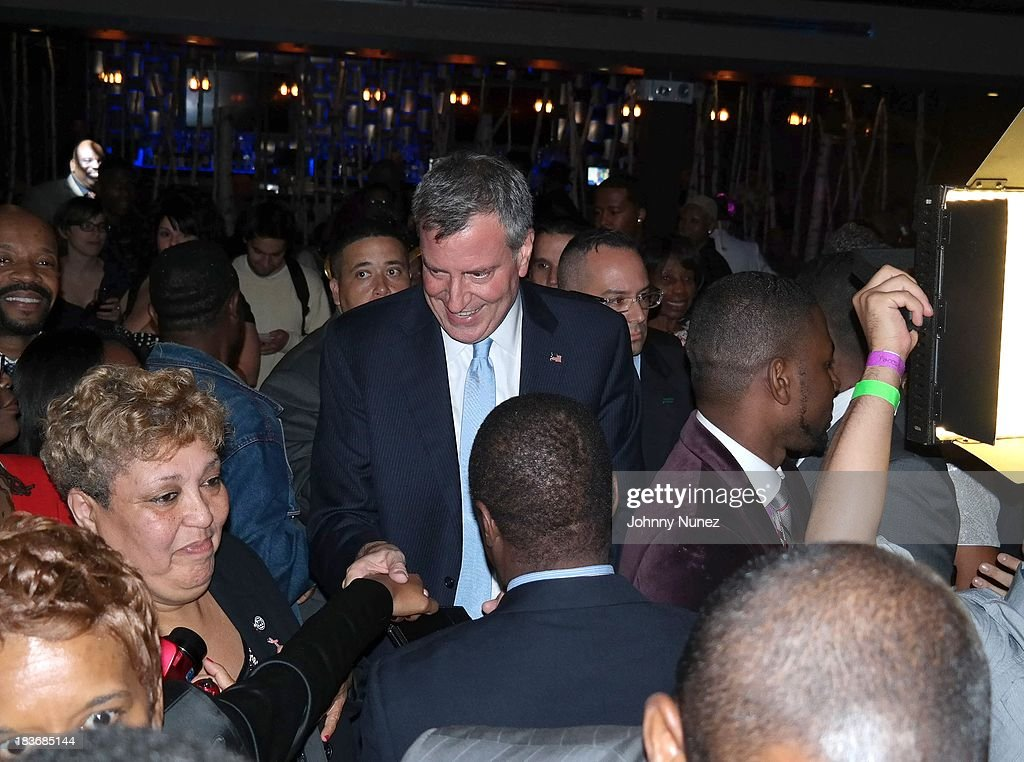 <a gi-track='captionPersonalityLinkClicked' href=/galleries/search?phrase=Bill+de+Blasio&family=editorial&specificpeople=6224514 ng-click='$event.stopPropagation()'>Bill de Blasio</a> attends Reverend Al Sharpton 'Rejected Stone: Al Sharpton And The Path To American Leadership' Book Reception at Stage 48 on October 8, 2013 in New York City.