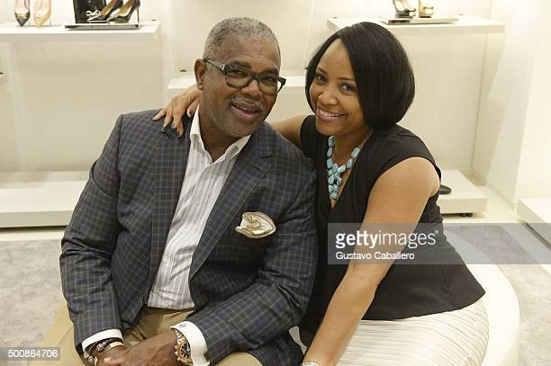 Bill Diggs and Marie Diggs attend a benefit for The Honey Shine Inc hosted by Tracy Alonzo Mourning at BALLY Aventura on December 10 2015 in Miami...
