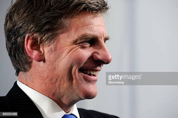 Bill English New Zealand's finance minister speaks in an interview during the AsiaPacific Economic Cooperation summit in Singapore on Thursday Nov 12...