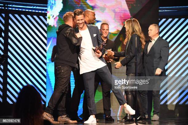 Bill Fielding and Hillsong Worship after Hillsong Worship receives the Worship Album of the year Award during the 48th Annual GMA Dove awards in...