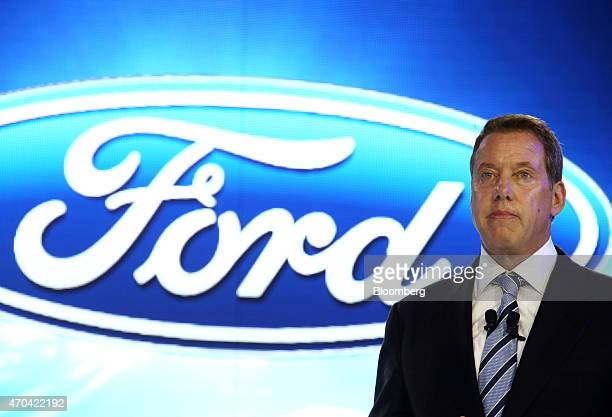 Bill Ford chairman of Ford Motor Co attends a news conference at the 16th Shanghai International Automobile Industry Exhibition in Shanghai China on...