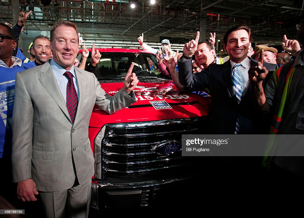 Bill Ford Top Ford Executives Hold Press Conference At