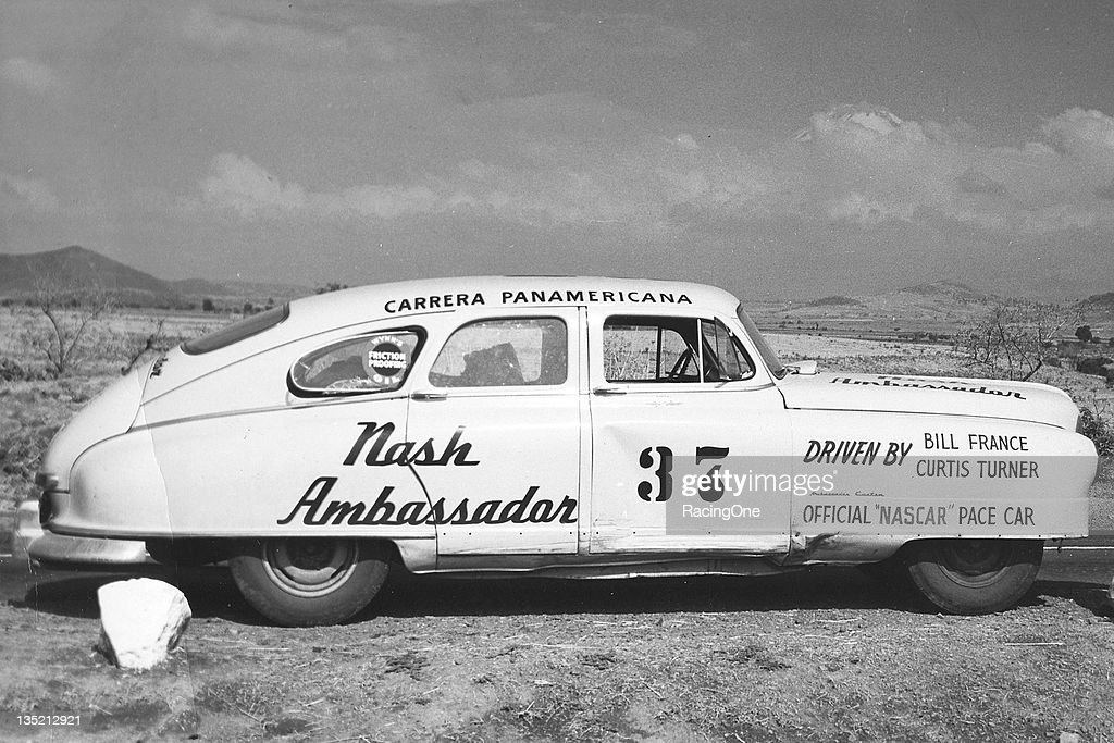 Bill France Sr and NASCAR driver Curtis Turner codrove this Nash in the La Carrera Panamericana road race After the Mexican section of the...