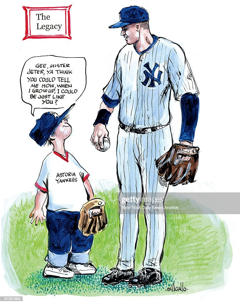 Color sheets derek jeter - Bill Gallo Cartoon For 9 25 2009 Derek Jeter And Kid Gee