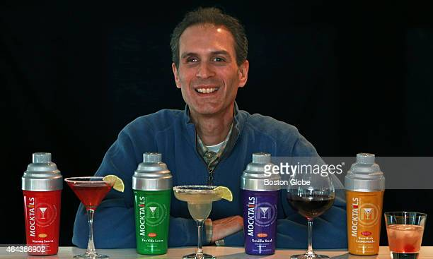 Bill Gamelli the president of 'Mocktails' is pictured with his products