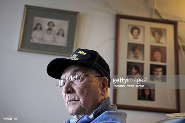 Bill Gardner recalls the Battle of Iwo Jima fought 70 years ago this month when he was in the US Navy in World War II during an interview at his home...