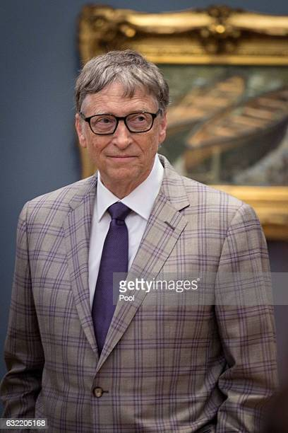 Bill Gates attends the official opening of the Barberini Museum on January 20 2017 in Potsdam Germany The Barberini patronized by billionaire Hasso...